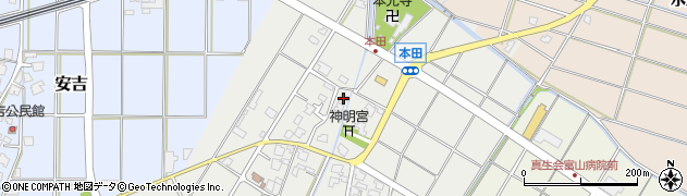 富山県射水市本田周辺の地図