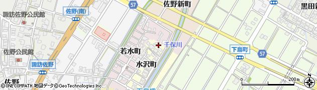 富山県高岡市水沢町周辺の地図