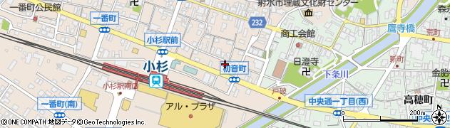 富山県射水市三ケ初音町周辺の地図
