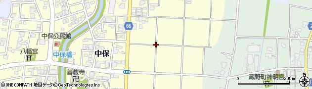 富山県高岡市中保周辺の地図
