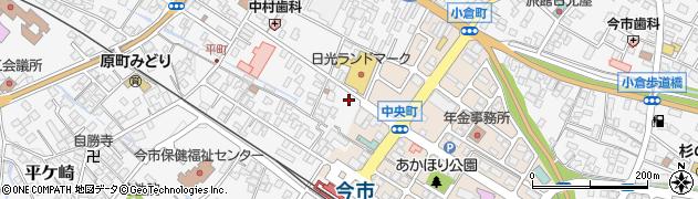 栃木県日光市今市周辺の地図