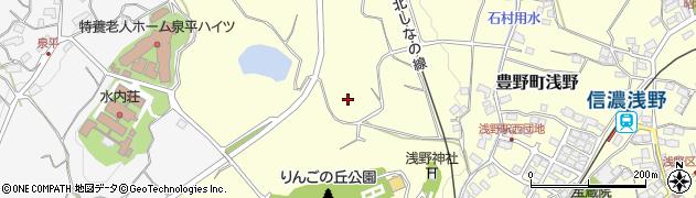 長野県長野市豊野町浅野周辺の地図