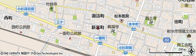 富山県射水市三ケ(新富町)周辺の地図