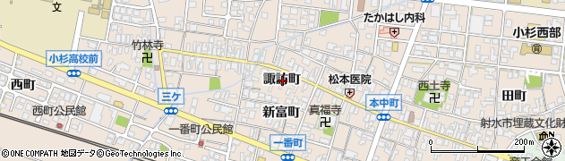 富山県射水市三ケ(諏訪町)周辺の地図