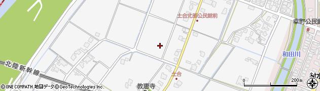 富山県射水市土合周辺の地図