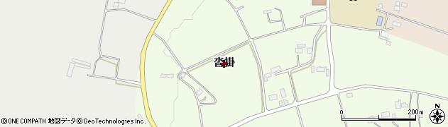 栃木県日光市沓掛周辺の地図