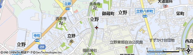 富山県高岡市高札町周辺の地図