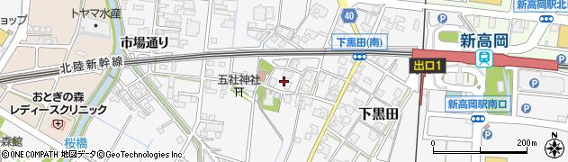 富山県高岡市下黒田周辺の地図