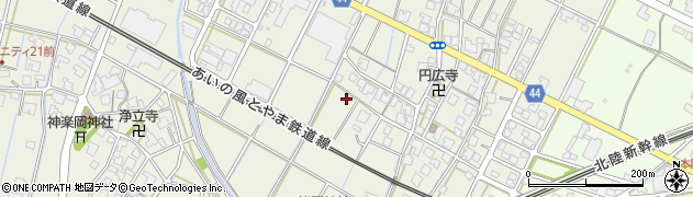 富山県射水市新開発周辺の地図