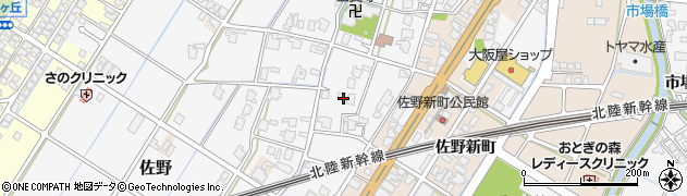 富山県高岡市佐野1011周辺の地図