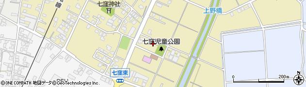 石川県かほく市七窪ホ周辺の地図