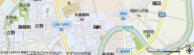 富山県高岡市栄町周辺の地図