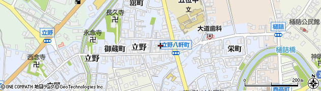 富山県高岡市八軒町周辺の地図