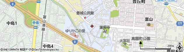 富山県富山市豊城町周辺の地図