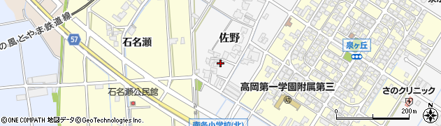 富山県高岡市佐野671周辺の地図
