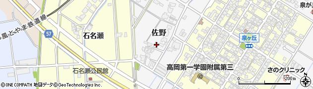 富山県高岡市佐野675周辺の地図