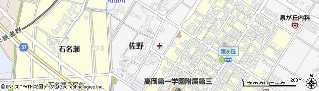 富山県高岡市佐野723周辺の地図