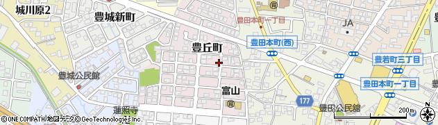 富山県富山市豊丘町周辺の地図