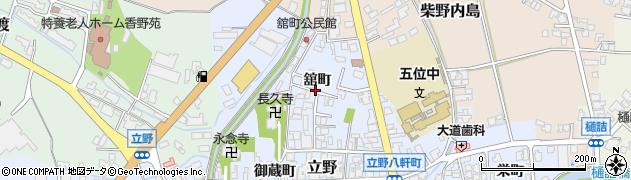 富山県高岡市舘町周辺の地図