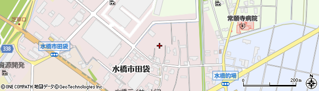富山県富山市水橋市田袋周辺の地図