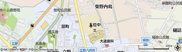 富山県高岡市立野栄町周辺の地図