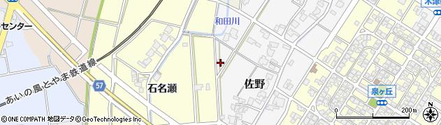 富山県高岡市佐野691周辺の地図