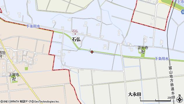 〒930-0302 富山県中新川郡上市町石仏の地図