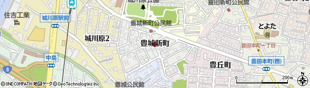 富山県富山市豊城新町周辺の地図