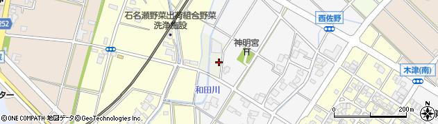 富山県高岡市西佐野周辺の地図