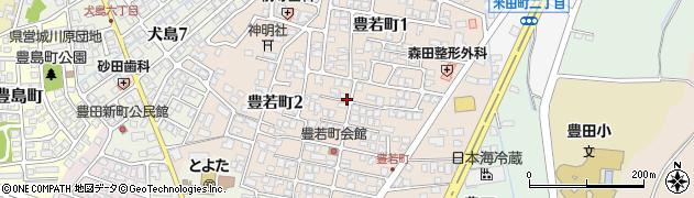 富山県富山市豊若町周辺の地図