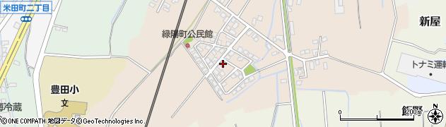 富山県富山市緑陽町周辺の地図