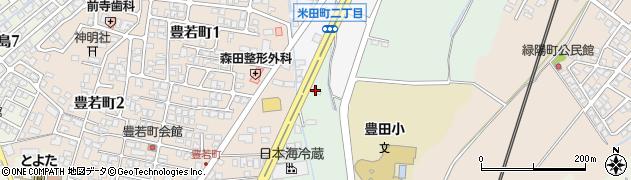 富山県富山市米田周辺の地図