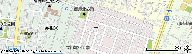 富山県高岡市問屋町周辺の地図