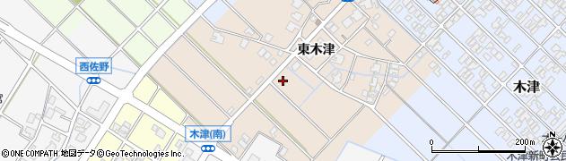 富山県高岡市木津東木津周辺の地図
