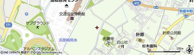 富山県富山市針原中町周辺の地図