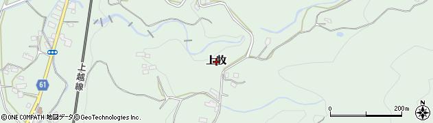 群馬県みなかみ町(利根郡)上牧周辺の地図