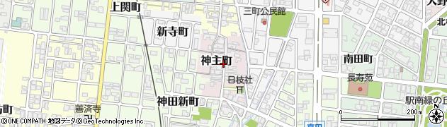 富山県高岡市神主町周辺の地図