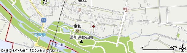富山県滑川市堀江周辺の地図