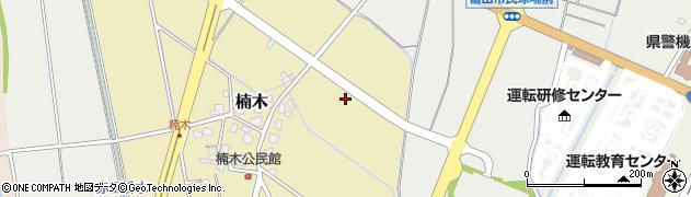 富山県富山市楠木周辺の地図