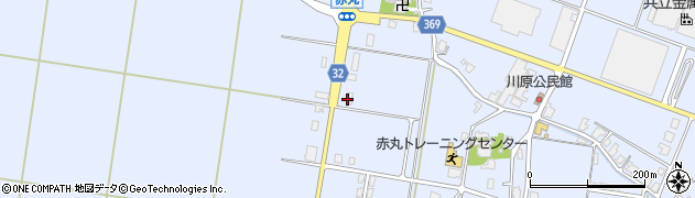 富山県高岡市福岡町赤丸周辺の地図