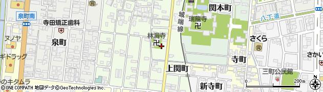 富山県高岡市上関町周辺の地図