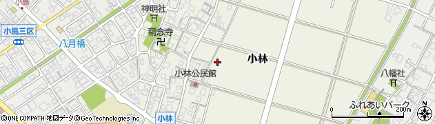 富山県射水市小林周辺の地図