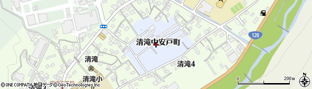 栃木県日光市清滝中安戸町周辺の地図