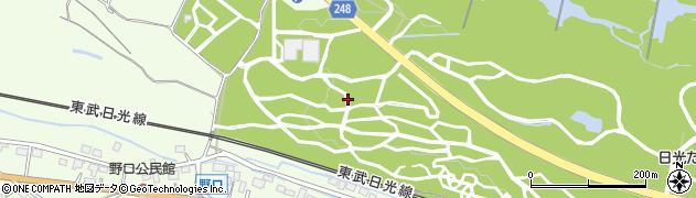 栃木県日光市野口周辺の地図
