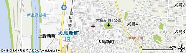 富山県富山市犬島新町周辺の地図