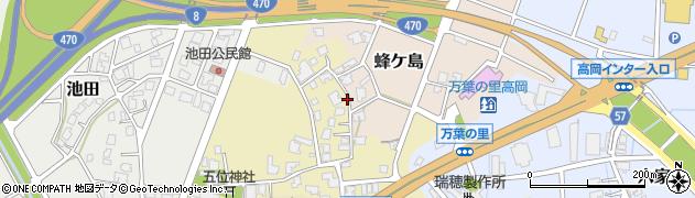 富山県高岡市内島周辺の地図