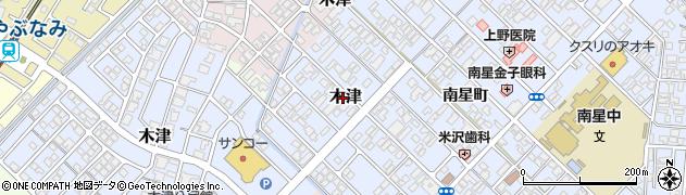 富山県高岡市木津周辺の地図