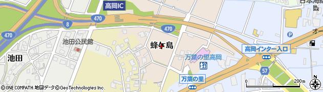 富山県高岡市蜂ケ島周辺の地図