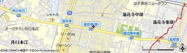 富山県高岡市蓮花寺西部周辺の地図