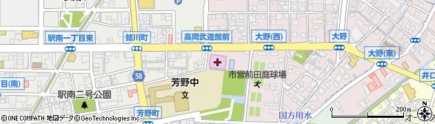 富山県高岡市前田町周辺の地図